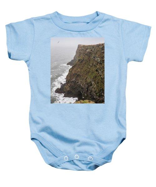 Gathering Guillemot Eggs On Cliffs Baby Onesie