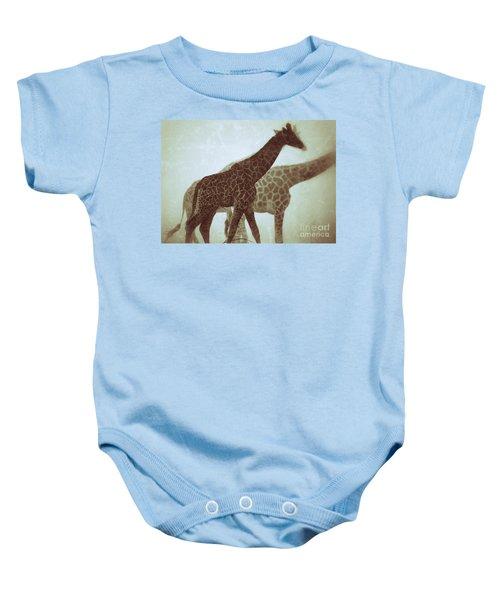 Giraffes In The Mist Baby Onesie