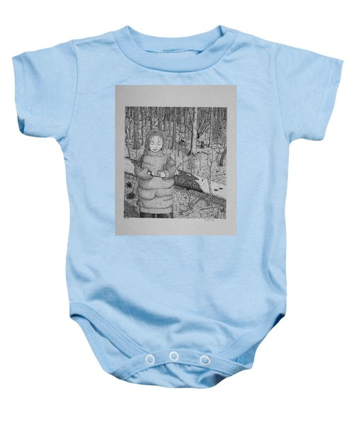 Girl In The Forest Baby Onesie