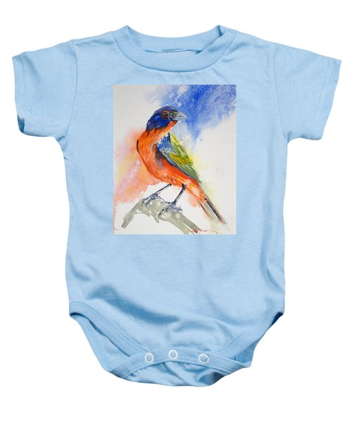 Da188 Glow Of The Painted Bunting Daniel Adams Baby Onesie