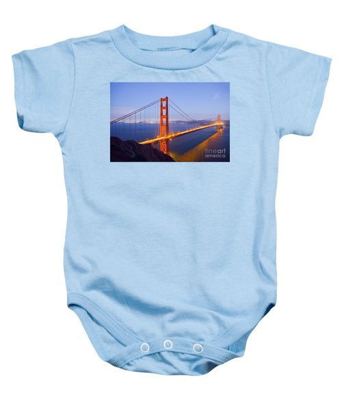 Golden Gate Bridge At Dusk Baby Onesie