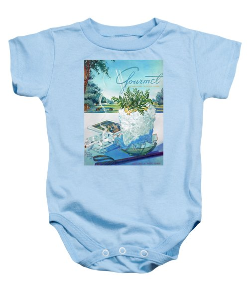 Gourmet Cover Illustration Of Mint Julep Packed Baby Onesie