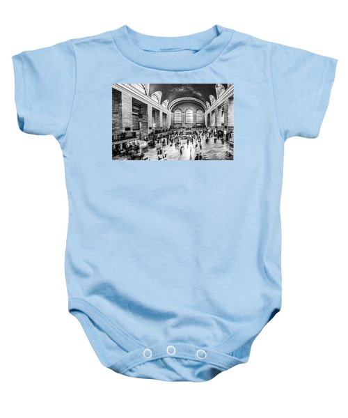 Grand Central Station -pano Bw Baby Onesie