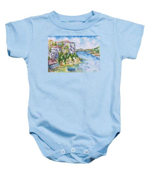 Greek Playground  Baby Onesie