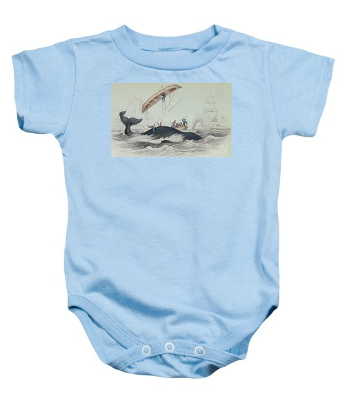 Greenland Whale Book Illustration Engraved By William Home Lizars  Baby Onesie