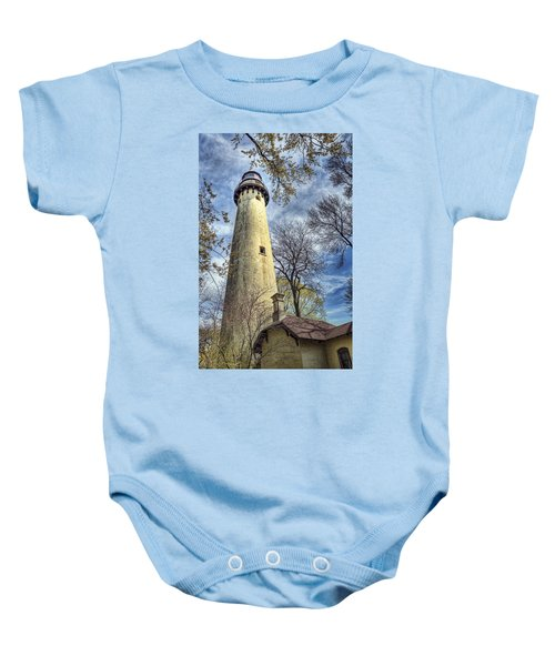 Grosse Point Lighthouse Color Baby Onesie