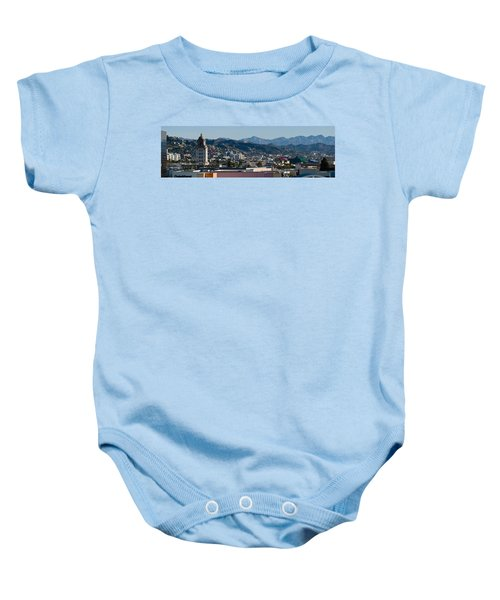 High Angle View Of A City, Beverly Baby Onesie