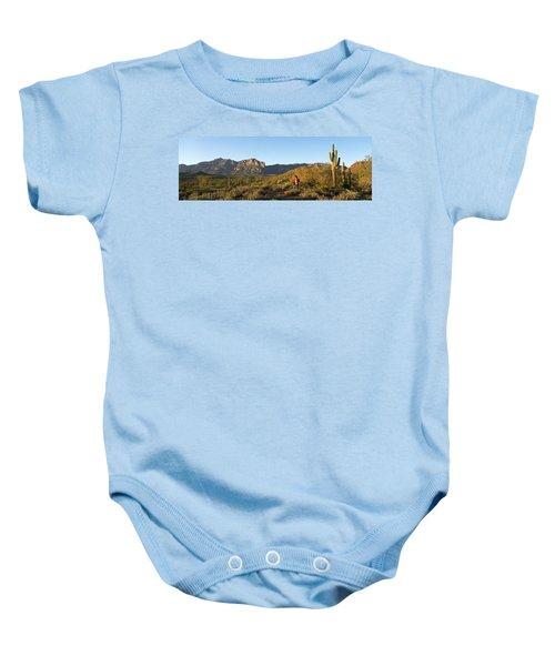 Hiker Standing On A Hill, Phoenix Baby Onesie