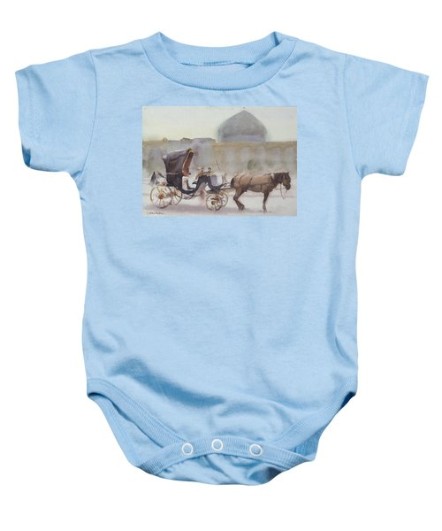 Horse And Carriage, Naghshe Jahan Square, Isfahan Wc On Paper Baby Onesie