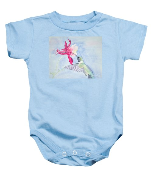 Hummingbird And Columbine Baby Onesie