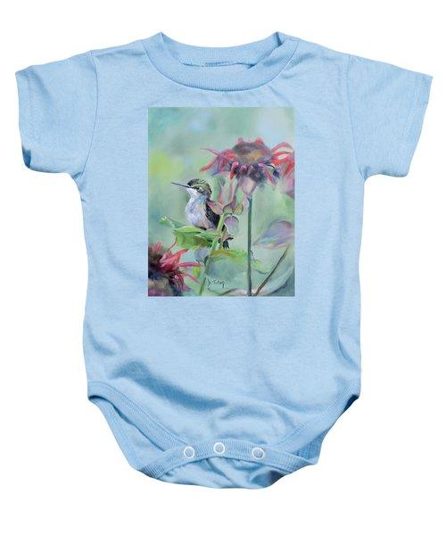 Hummingbird And Coneflowers Baby Onesie