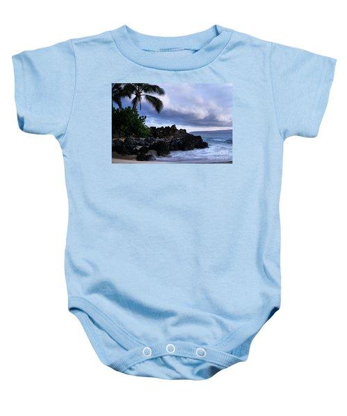 I Ke Kai Hawanawana Eia Kuu Lei Aloha - Paako Beach Maui Hawaii Baby Onesie