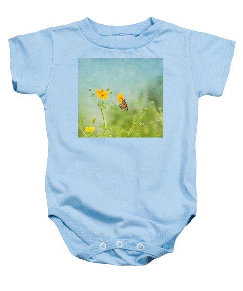 In The Garden - Monarch Butterfly Baby Onesie