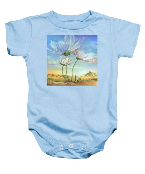 In The Half-shadow Of Wild Flowers Baby Onesie