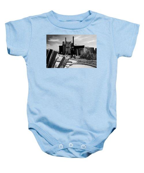 Industrial Power Plant Landscape Smokestacks Baby Onesie