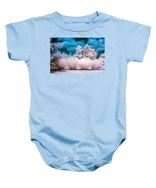 Infrared Bushes Baby Onesie
