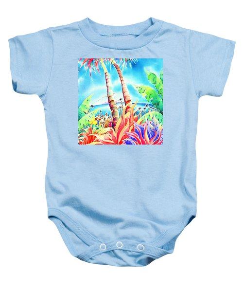 Island Of Music Baby Onesie