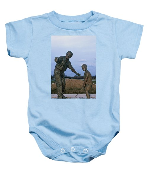 36u-245 Jack Nicklaus Sculpture Photo Baby Onesie