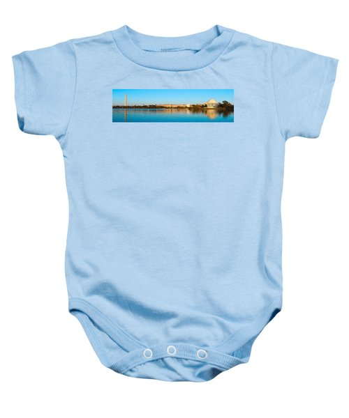 Jefferson Memorial And Washington Baby Onesie