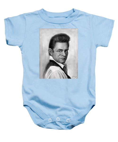 Johnny Cash Baby Onesie by Andre Koekemoer