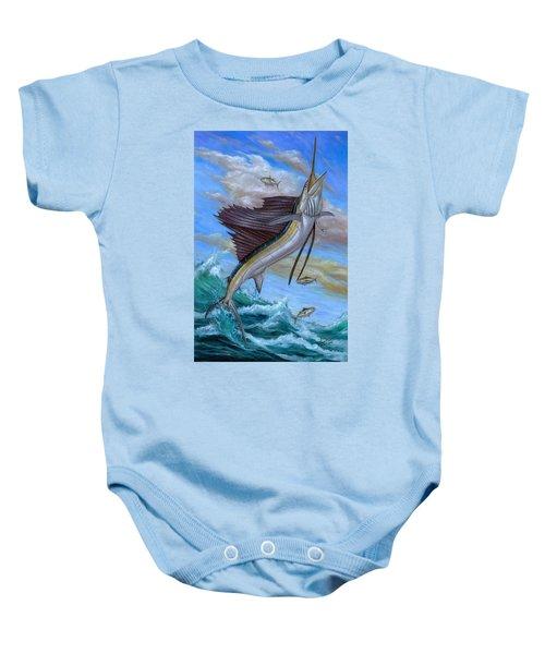 Jumping Sailfish Baby Onesie