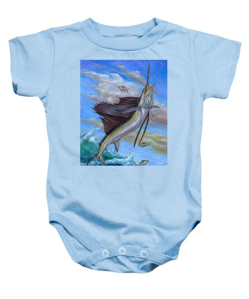 Jumping Sailfish Baby Onesie