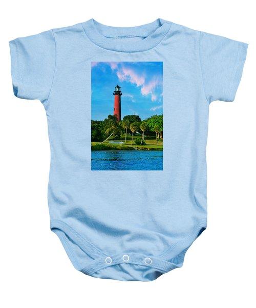 Jupiter Florida Lighthouse Baby Onesie