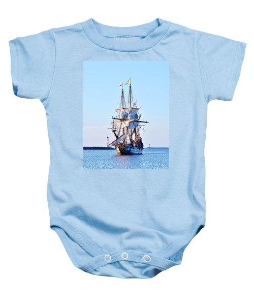 Kalmar Nyckel Tall Ship Baby Onesie