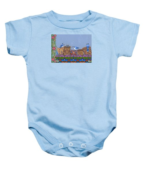 Baby Onesie featuring the painting Keeper Of Songs by Chholing Taha