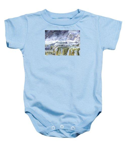 Killdeer Palisades - Mammoth Hot Springs Baby Onesie