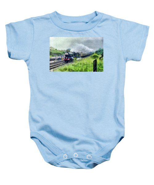'king George V' Locomotive Baby Onesie