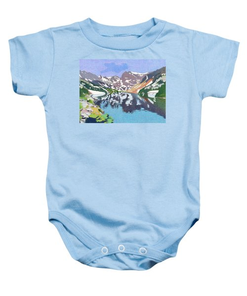 Lake Isabelle Colorado Baby Onesie