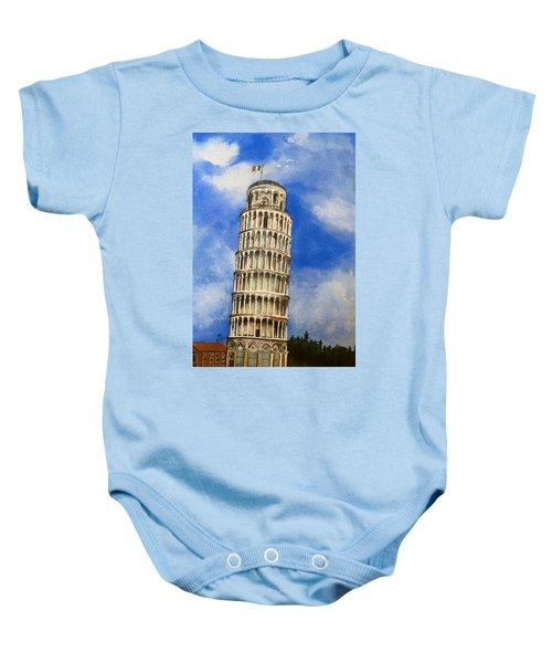 Leaning Tower Of Pisa Baby Onesie