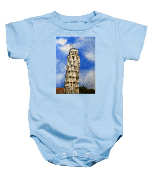 Leaning Tower Of Pisa Baby Onesie