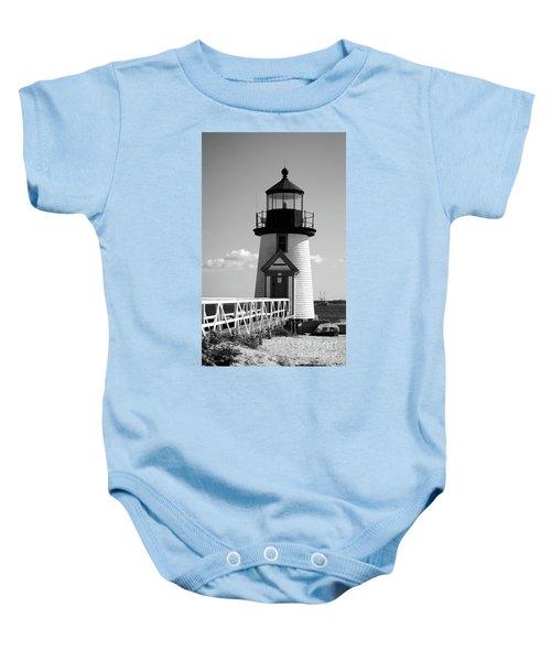Lighthouse On Nantucket Bw Baby Onesie