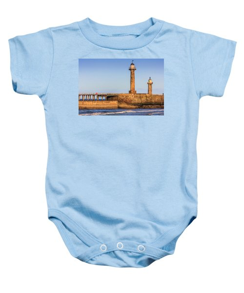 Lighthouses On The Piers Baby Onesie