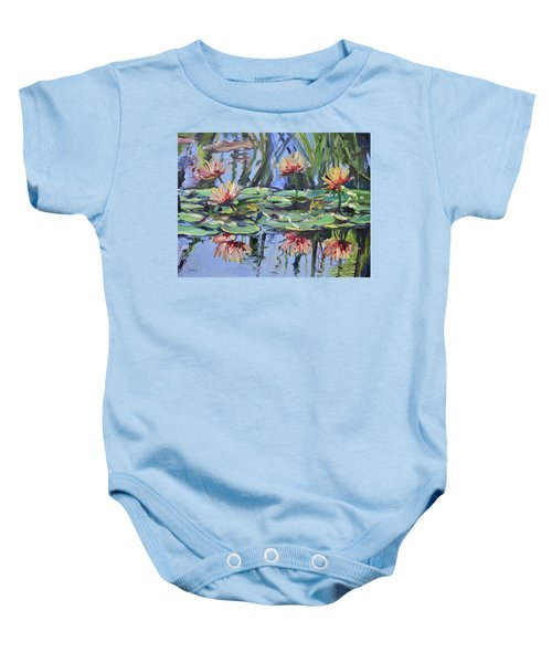 Lily Pond Reflections Baby Onesie