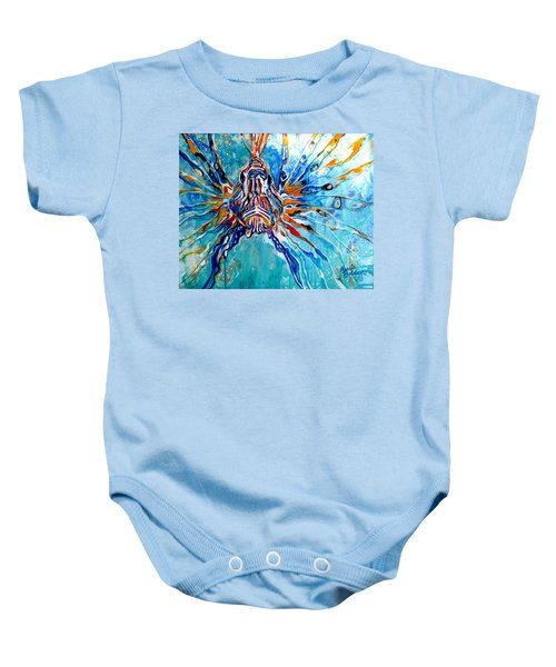 Lion Fish Blue Baby Onesie