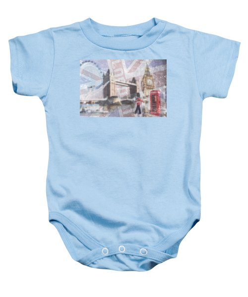 London Blue Baby Onesie