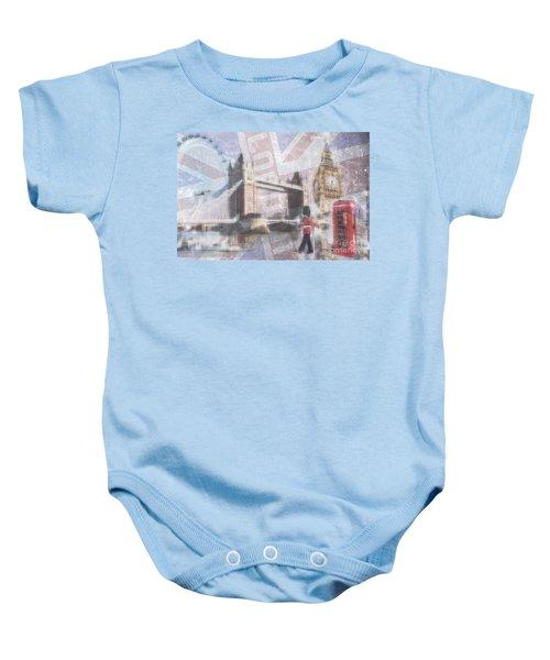 London Blue Baby Onesie