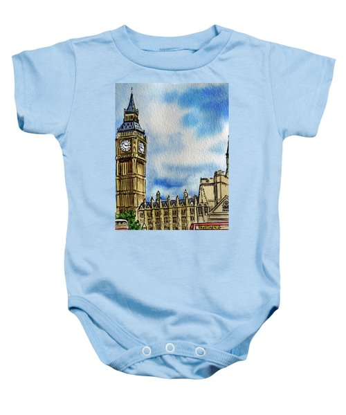 London England Big Ben Baby Onesie