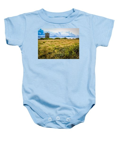 Baby Onesie featuring the photograph Lord Bandon's Tower In Ireland's County Cork by James Truett