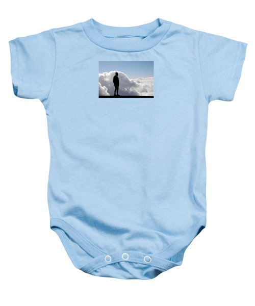 Man In The Clouds Baby Onesie