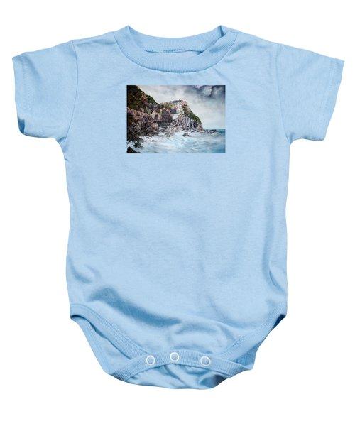 Manarola Italy Baby Onesie by Jean Walker