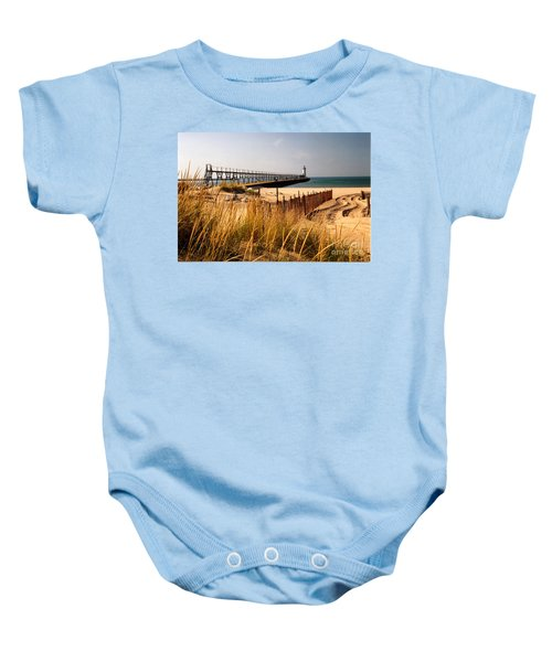 Manistee Lighthouse Baby Onesie