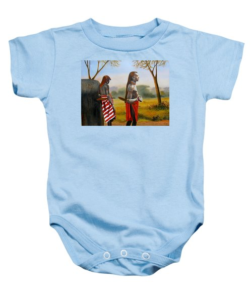 Men Of The Maasai Baby Onesie