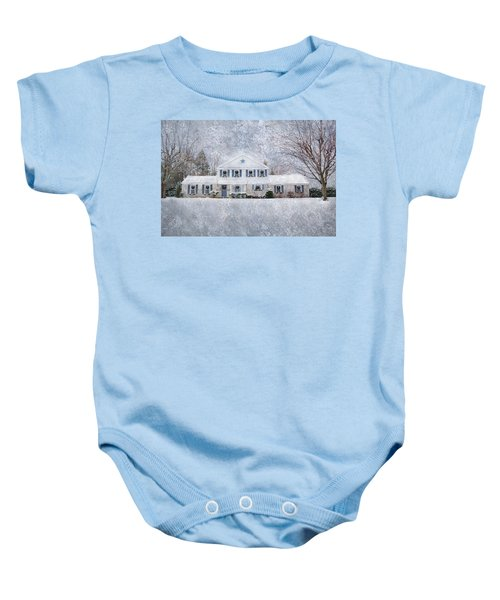 Wintry Holiday Baby Onesie