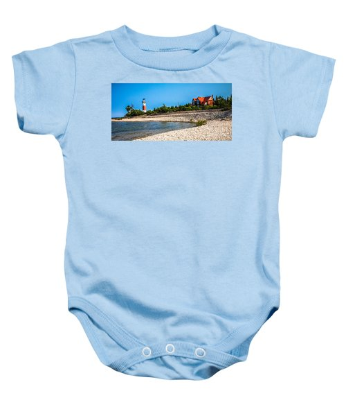 Middle Island Lighthouse Baby Onesie