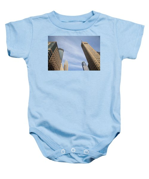 Baby Onesie featuring the photograph Minneapolis Skyline by Frank Romeo