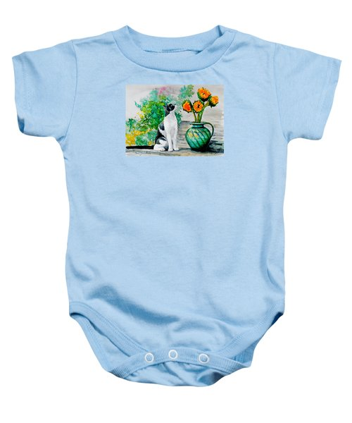 Da129 Miss Kitty Daniel Adams Baby Onesie
